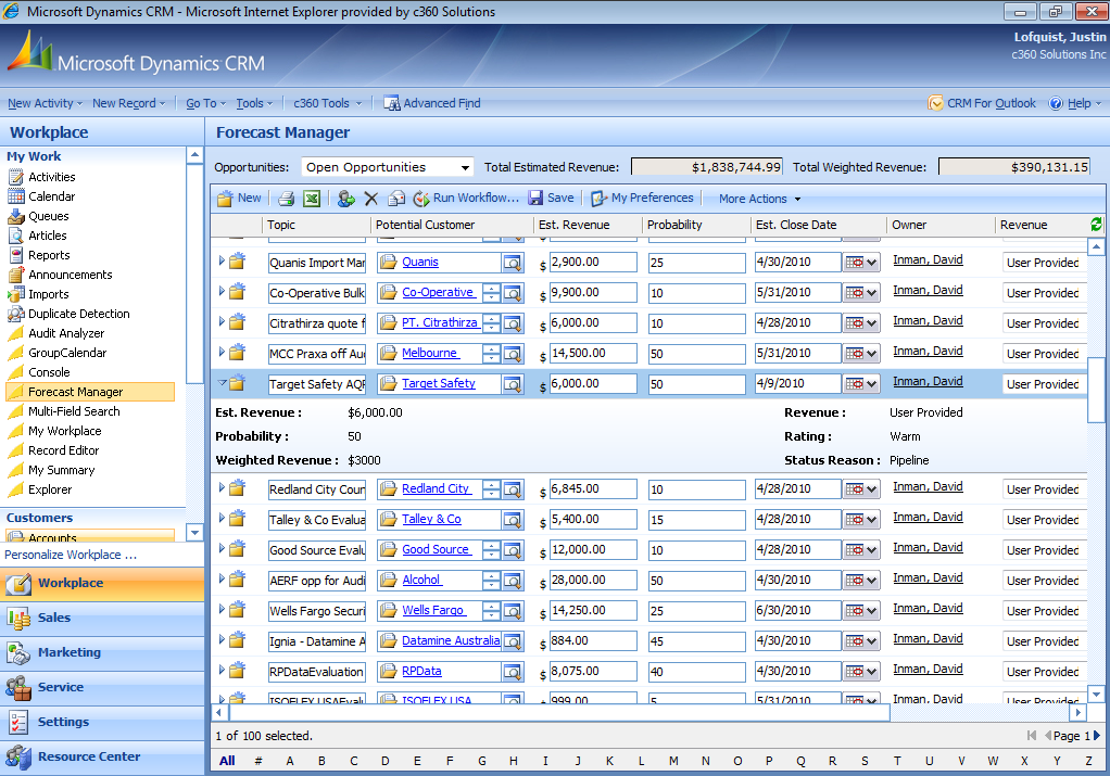 Dynamics crm Software Screenshot 6