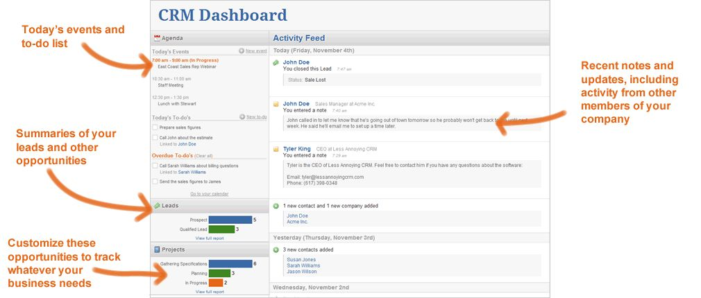 Less Annoying Crm Software Screenshot 2