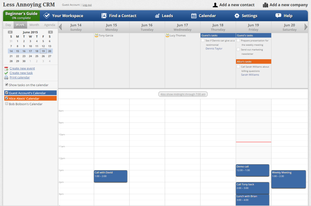 Less Annoying Crm Software Screenshot 4