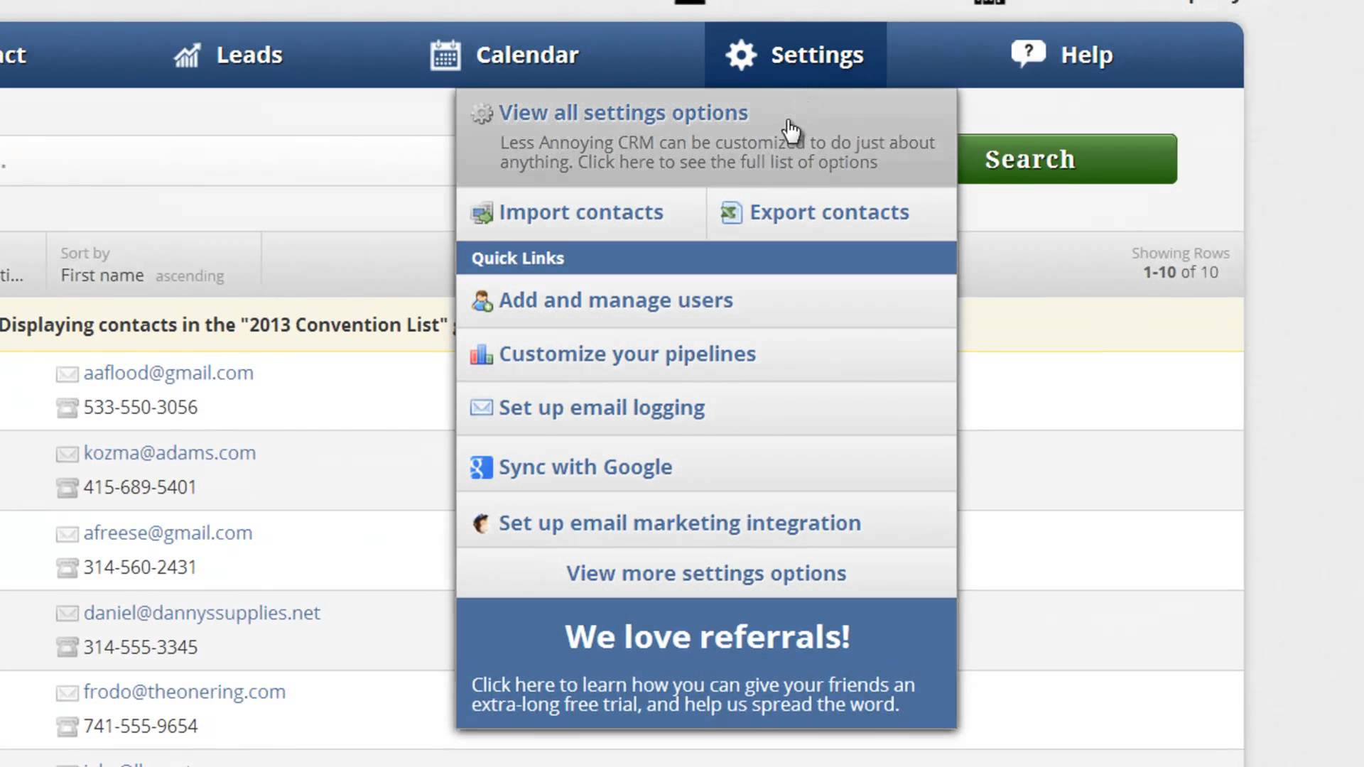 Less Annoying Crm Software Screenshot 5