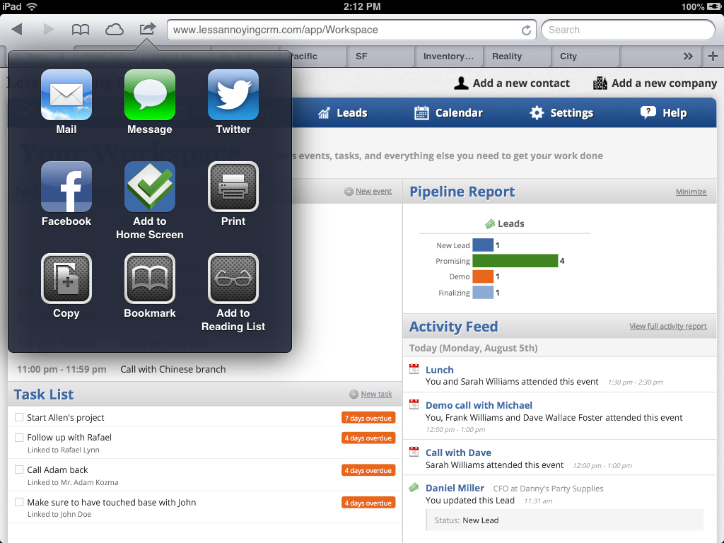 Less Annoying Crm Software Screenshot 6