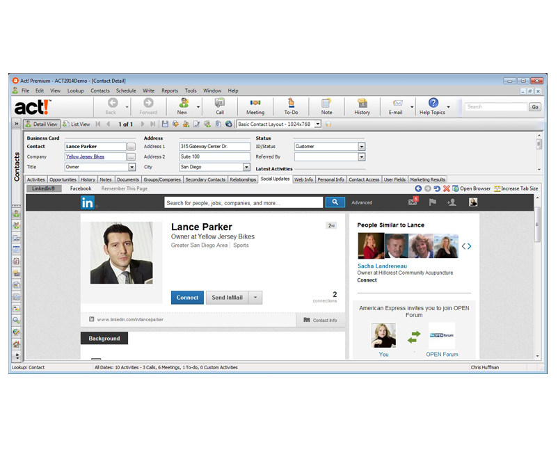 Act! CRM Software Screenshot 2