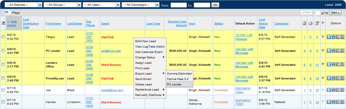 Velocify CRM Software Screenshot 6